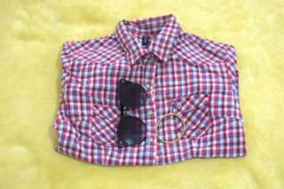 BNY Red Checkered Shirt