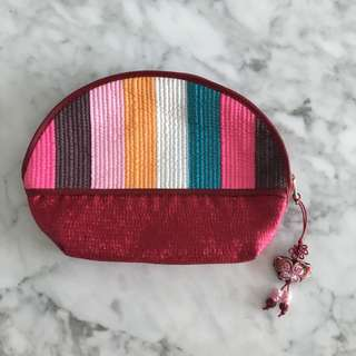 Soft Striped Multicolor Pouch