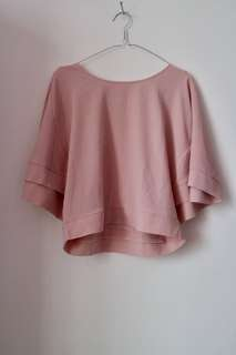 Atasan/ Batwing Pink Top