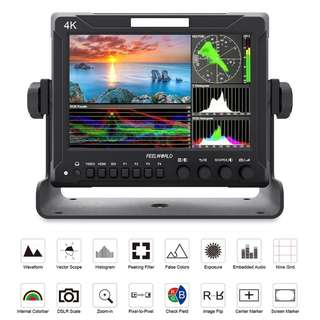 "FEELWORLD Z72 7"" Full HD SDI 4K HDMI DSLR On-camera Field Monitor with Wave Form and Vector Scope"