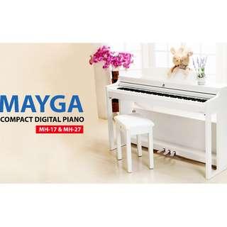 Mayga MP-17 Digital Grand Piano White