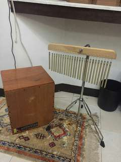 Kahonistan foldable cajon and chimes fors sale for 6500 package