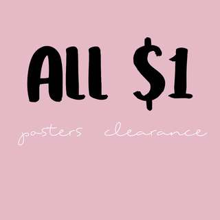 ALL $1 !! CHEAP KPOP POSTERS CLEARANCE