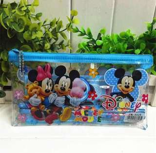 Disney Mickey Minnie Mouse Children's Birthday Party Goodies Pencil case For Children's Day School Events Friendship Day Souvenir Birthday Gifts 3 For $13.50