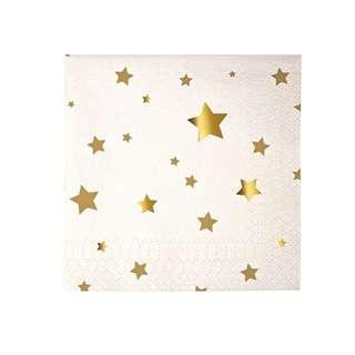Shiny Gold Stars Napkins (Set of 20)