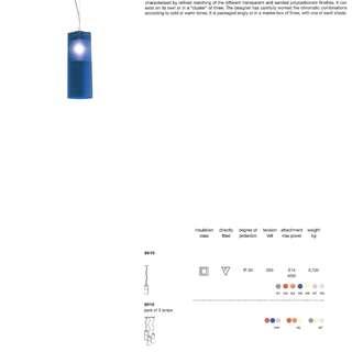 KARTELL Easy Blue Colour Suspension Lamp  (9010.W5)