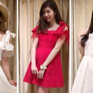 100% Authentic LIZ LISA Off Shoulder Red Dress With Ribbon Straps   Imported from Japan   Japanese & Kawaii Style   Brand new with tag   Stylish Trendy Nice Gorgeous   Latest Japanese & korean Style   Best Woman Fashion   Singapore  No.1 blogshop