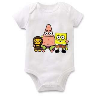 Spongebob ft Baby Milo Baby Romper
