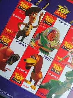 外國Disney Toy Story郵票小型張Woody