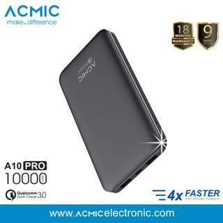 Powerbank Acmic A10PRO QUICK CHARGE 3.0 10.000 mAH