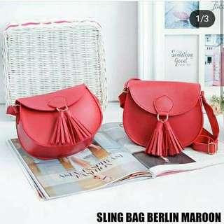 Sling bag berlin maroon