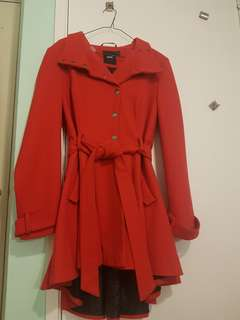 ASOS red Swing Coat