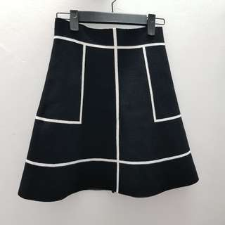 B&W Knitted Skirt