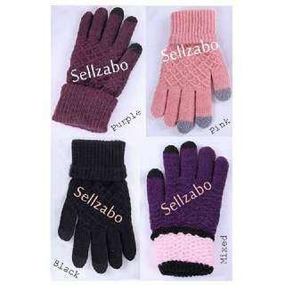 Warmth Hp Touch Screen Winter Knitted Hands Gloves Sellzabo Unisex Ladies Girls Women Female Lady (-5 To 10 Degree)
