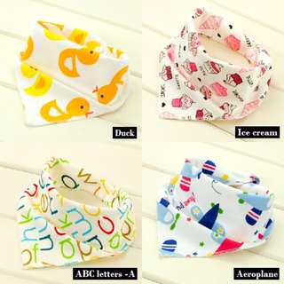 Baby Soft Cotton Triangle Bibs