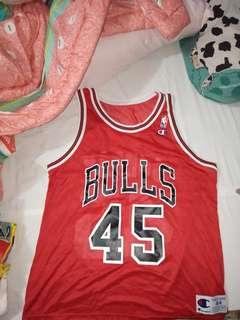 Jordan 1990's Chicago Bulls Large Red #45 Jersey VTG 90's