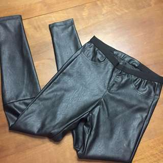 BN Black Leather Pants