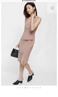 Brand New Love Bonito Peplum Midi Dress