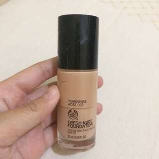 The body shop fresh nude foundation 032
