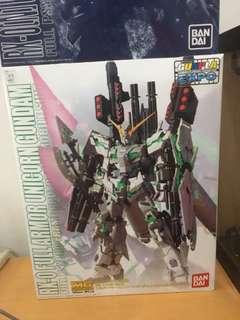 MG 1/100 full armour unicorn expo 透明版獨角獸
