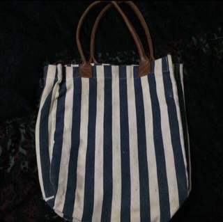 Blue striped bag