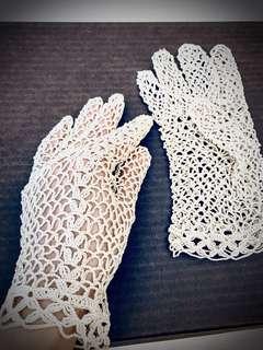 Vintage Crochet Gloves - Photoshoot / Wedding / Collectors