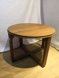 Solid teakwood round coffee table