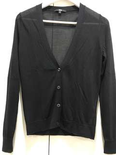 Black sheer cardigan