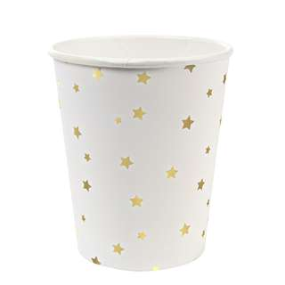 Gold Foil Stars Cups (Set of 8)