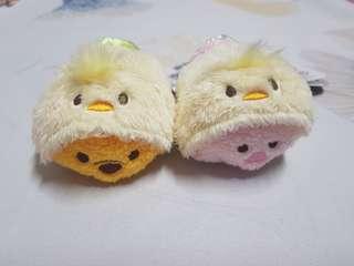 tsum tsum 日本迪士尼 復活節款 小熊維尼 小豬 娃娃 擺飾