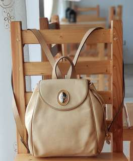 Authentic Preowned Christian Dior Vintage Pale Yellow Small Backpack GHW