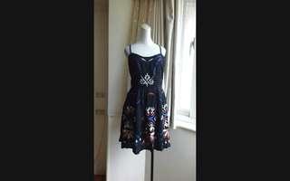 韓系 歐美刺繡花朵 棉質洋裝