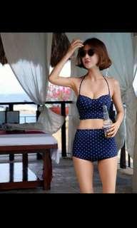 Korean style bikini set with rims swimsuit.