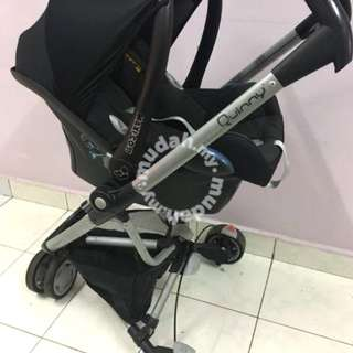 Quinny Zapp stroller complete with maxi cosi seat