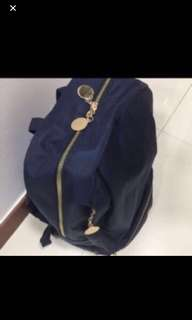 Navy blue bag pack