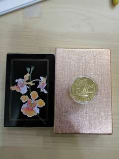 1990 Singapore 25 Anniversary $250 Dollars Gold Coin with box but no COA