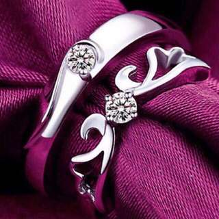 Silver Couple Wedding Gift Rings