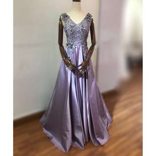 Purple Bridal Evening Gown (Used)