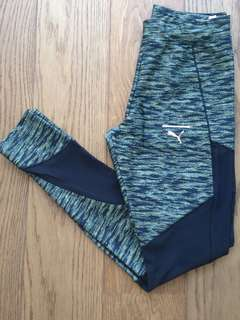 Puma black and green tights - size S/10