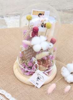 Dried Flower Glass Dome