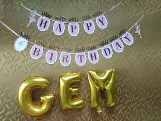 Party Banners, Ballons Etc