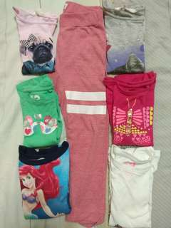 Preloved sweat shirts/Tops and bottom for 3yr old Girl