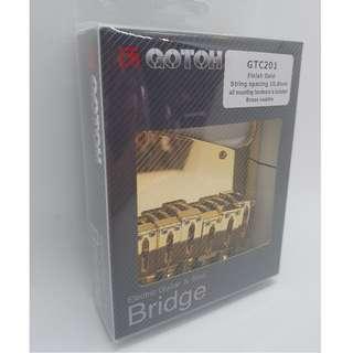 Gotoh GTC201 Guitar Bridge - Gold