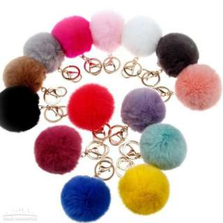 CHEAPEST Fur Ball Keychain fluffy keychain fur pom pom llaveros portachiavi porte clef Key Ring Key Chain For Bag Rabbit