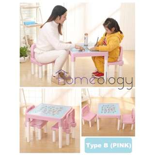 Type B Kids Study Learning Alphabets Teaching Education Table Desk Chair Set Child Student Furniture