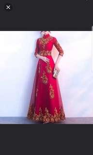 Red qipao cheongsam Dress / evening gown