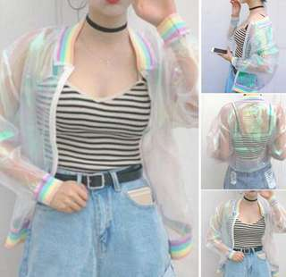 Unicorn Transparent Bomber Jacket