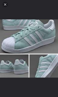 PO:ADIDAS SUPERSTAR SUEDE ICE MINT SNAKE