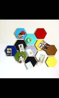 *New* Ready Stock - Decorative polygon pin board