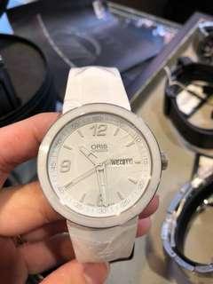 Oris TT1 White rubber strap watch